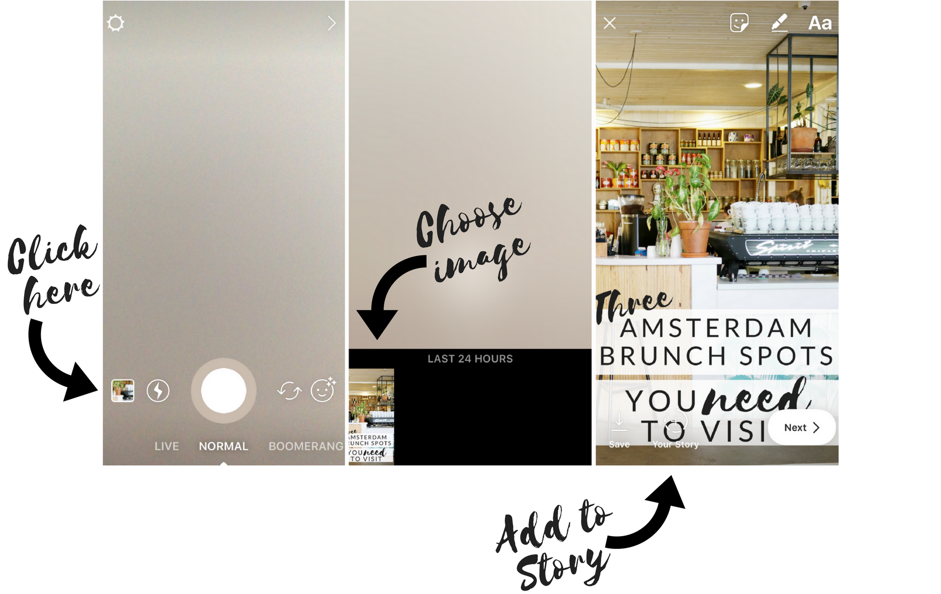 how to add customised images to Instagram story